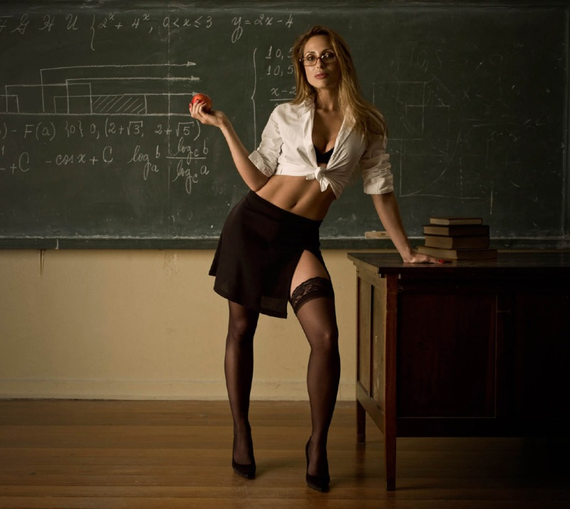 depraved brunette teacher servicing three big dicked students  229901