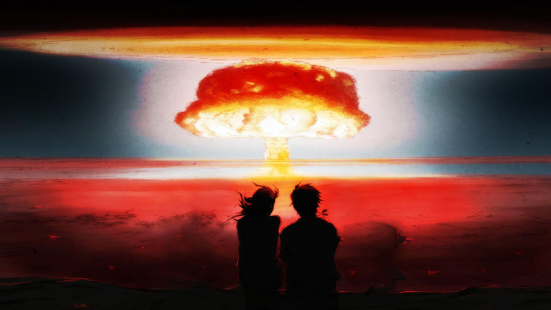 Обои на рабочий стол 1366х768 ядерный взрыв