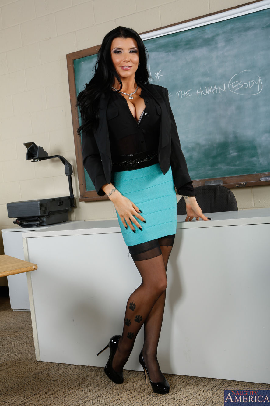 Busty teacher Romi Rain having sex with student's big cock in glasses № 356027  скачать