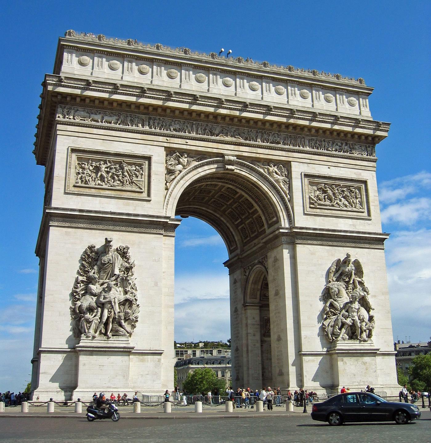 paris arc de triomphe - HD1400×1438